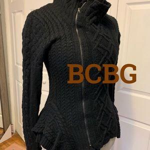 BCBG | Zanzi Peplum Moro Sweater Jacket